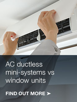Ductless AC systems vs window units.