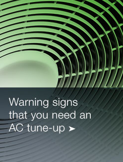AC warning signs tune-up
