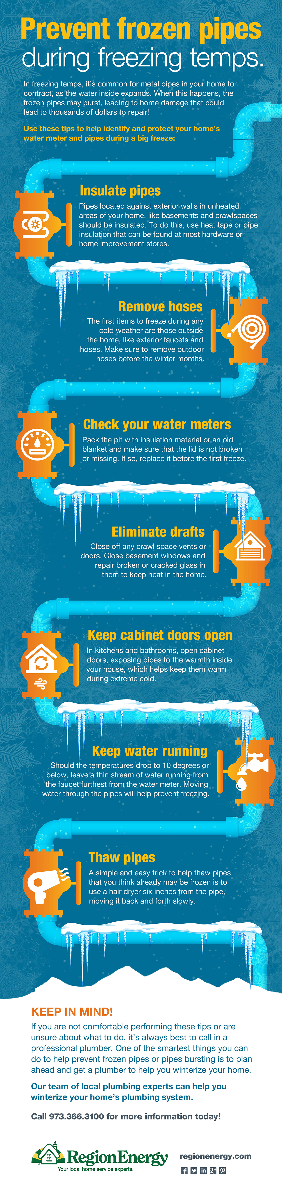 How to prevent frozen pipes during freezing temps